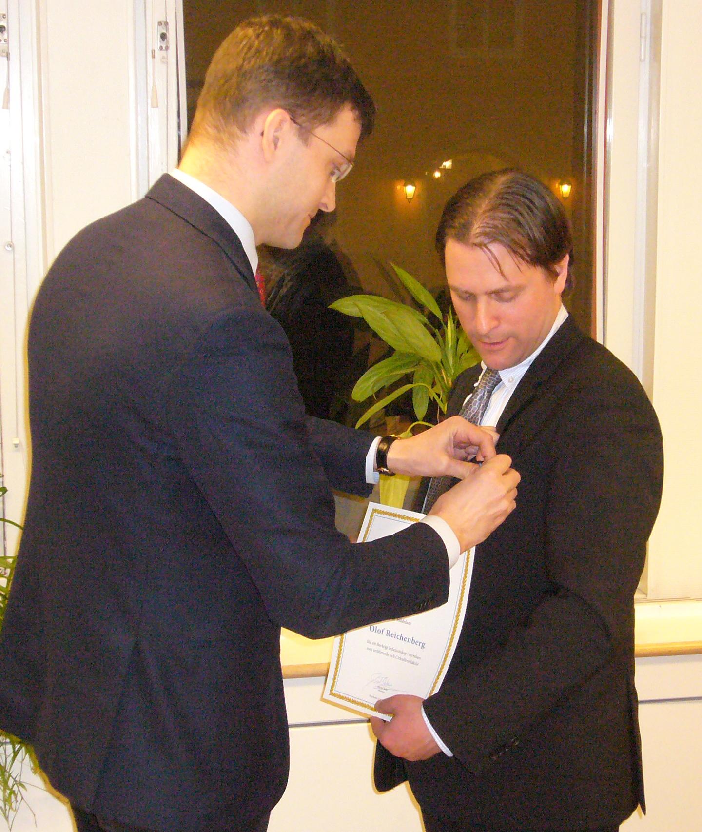 Olle Reichenberg får medalj detail